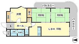 クリーンピア東今宿[4階]の間取り