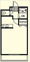 エスポワール鶴島[702号室]の間取り