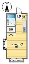 エステートピア笹塚[201号室]の間取り