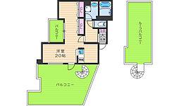 リバープレイス梅田北[11階]の間取り