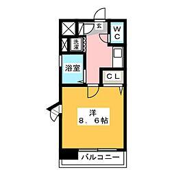 ライオンズステーションプラザ箱崎[9階]の間取り