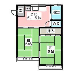 第5コーポ柴田[2階]の間取り