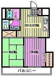 インフォートマンション[301号室]の間取り
