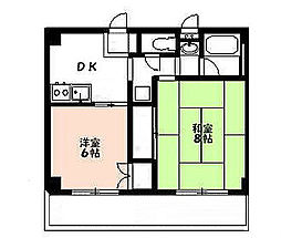 東京都八王子市打越町の賃貸マンションの間取り