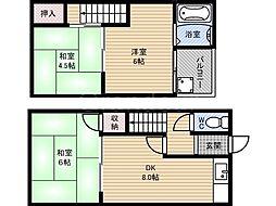 [一戸建] 大阪府大阪市鶴見区諸口4丁目 の賃貸【/】の間取り