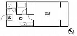 広島県広島市安佐南区山本6丁目の賃貸アパートの間取り