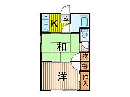 幸谷荘[201号室]の間取り