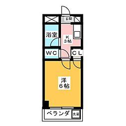 愛知県名古屋市南区寺部通3丁目の賃貸マンションの間取り