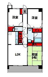 ルーセント篠栗II[3階]の間取り
