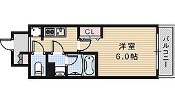 Osaka Metro谷町線 文の里駅 徒歩1分の賃貸マンション 1階1Kの間取り