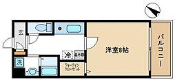 JR阪和線 熊取駅 徒歩2分の賃貸マンション 4階1Kの間取り