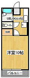 コーポ新町[2階]の間取り