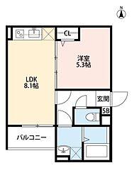 ディアコート巽南(ディアコートタツミミナミ)[3階]の間取り