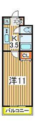 YUKON南柏[205号室]の間取り