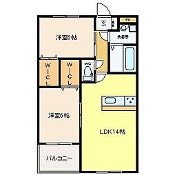 GRAND STAGE[402号室]の間取り