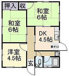 [一戸建] 三重県松阪市豊原町 の賃貸【/】の間取り