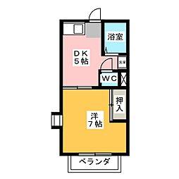 ドエルしば[2階]の間取り