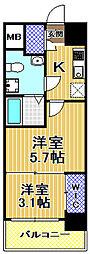 SERENiTE福島scelto[3階]の間取り