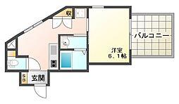 兵庫県神戸市垂水区海岸通の賃貸アパートの間取り