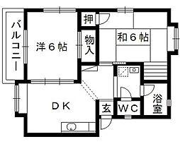 ノワールソールB[2階]の間取り