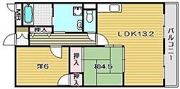 大阪府茨木市橋の内2丁目の賃貸マンションの間取り