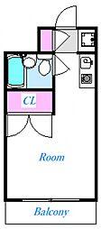 サンハイツ薬園台[206号室号室]の間取り