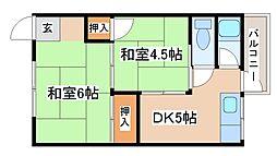こだま荘[2030号室]の間取り