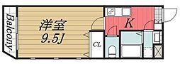 千葉県千葉市花見川区検見川町2丁目の賃貸マンションの間取り