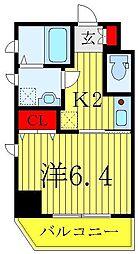 JR山手線 巣鴨駅 徒歩10分の賃貸マンション 6階1Kの間取り