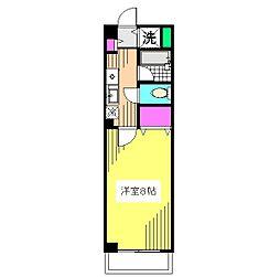 パークサイド常盤[1階]の間取り