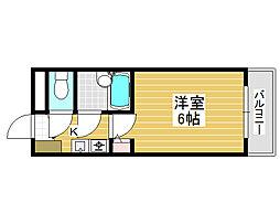 シャルマンフジ堺東弐番館[3階]の間取り