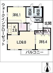 ヴューテラスD棟[1階]の間取り