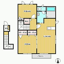 レジデンス A棟[2階]の間取り