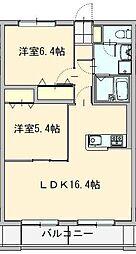 筑穂3丁目マンション[205号室]の間取り