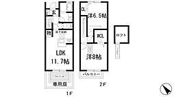 [テラスハウス] 大阪府池田市渋谷2丁目 の賃貸【/】の間取り