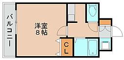 福岡県福岡市博多区吉塚6丁目の賃貸マンションの間取り