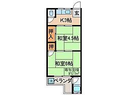 京都府京都市伏見区桃山水野左近東町の賃貸アパートの間取り