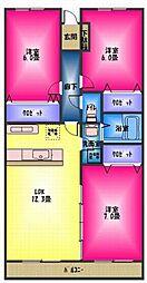 ロイヤルマンション柿田[5階]の間取り
