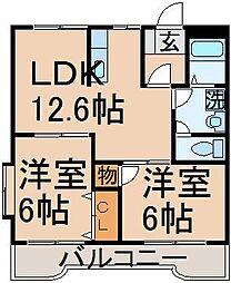 ウェルサイドマンション[1階]の間取り