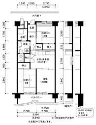 南港しらなみ35棟[5階]の間取り