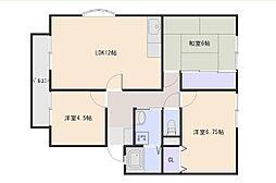 広島県広島市西区古江東町の賃貸アパートの間取り