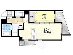 恵比寿YKマンション 1階1LDKの間取り