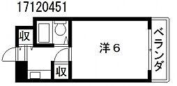 インクエイト[6階]の間取り