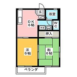フレグランススズキA棟[2階]の間取り