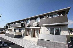 広島県福山市神辺町字道上の賃貸アパートの外観