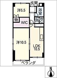 東山ハウス 404号[4階]の間取り