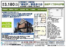 小金城趾駅 3,180万円