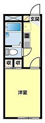 愛知県豊田市浄水町伊保原の賃貸アパートの間取り