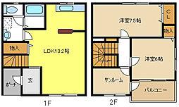 [テラスハウス] 愛知県名古屋市西区五才美町 の賃貸【/】の間取り