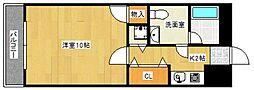 ローズガーデン[4階]の間取り